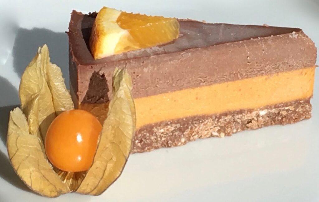 Orange Choco Raw Cake